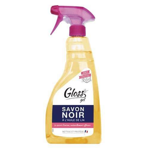 Sabão negro Gloss com óleo de linhaça – Spray de 750 ml