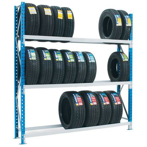 Estante para pneus Flexi-Store – Profundidade: 400mm - Manorga