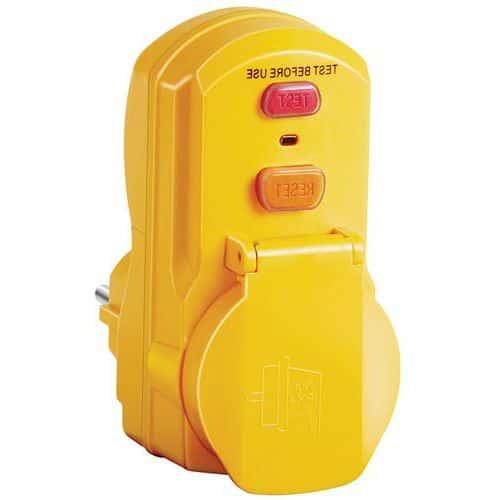 Adaptador com proteção diferencial 30 mA