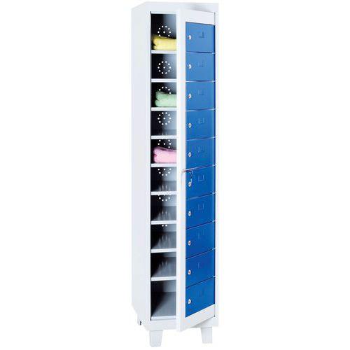 Armário para roupa limpa - Com compartimentos - Manutan