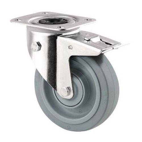 Rodízio giratório com placa – Capacidade de carga de 160kg