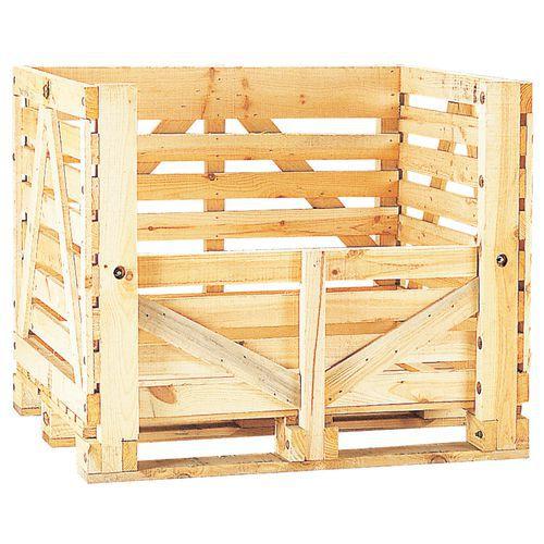 Caixa-palete em madeira