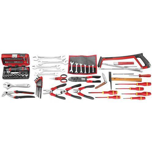 Selecção electricidade de 87 ferramentas métricas