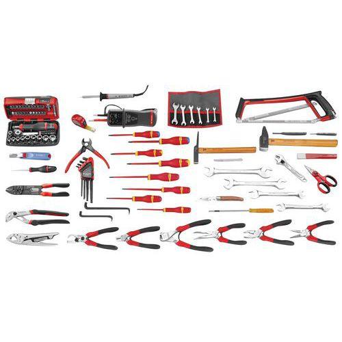 Selecção electricidade de 103 ferramentas métricas