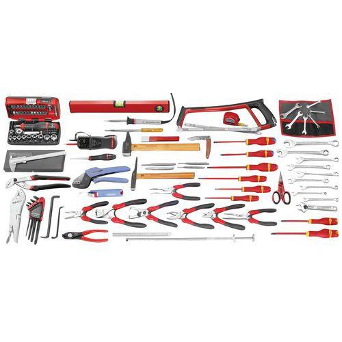 Selecção electricidade de 115 ferramentas métricas