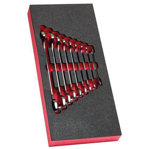 Módulo de espuma 9 chaves de bocas de 6 a 24 mm