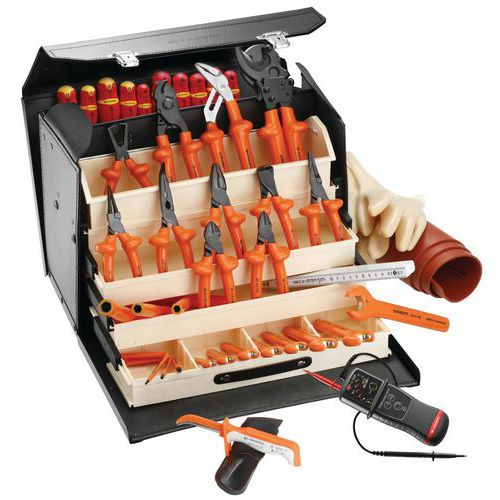Selecção de 41 ferramentas isoladas 1000 V
