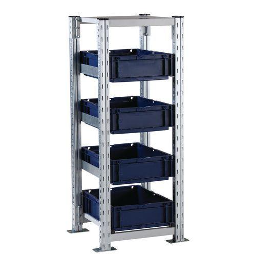 Estante para caixas de norma europeia Combi-Flex – Manorga