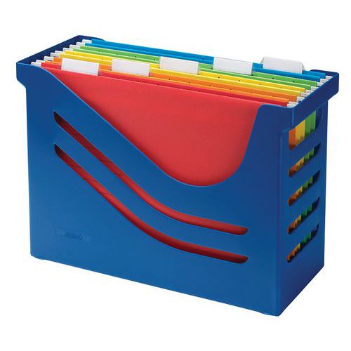 Caixa de arquivo para pastas suspensas – capacidade para 15 pastas