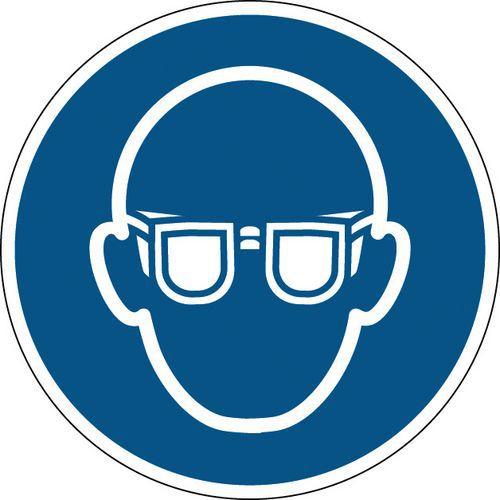 Painel de obrigação redondo - Óculos de proteção obrigatórios - Rígido