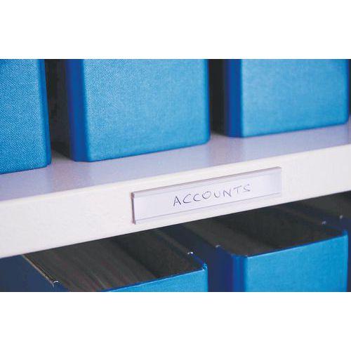 Porta-etiquetas - autocolante - Manutan