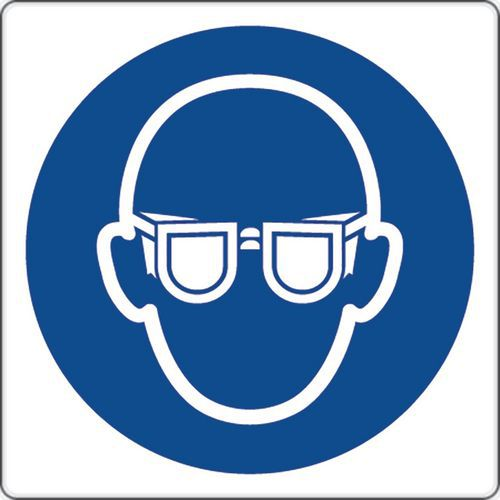 Painel de obrigação – Uso de proteção ocular – alumínio
