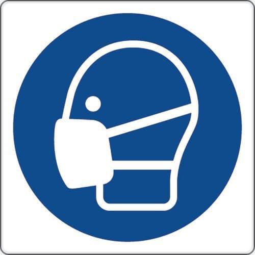 Painel de obrigação – Uso de máscara – alumínio