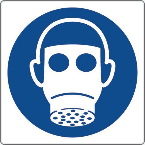 Painel de obrigação – Uso de proteção respiratória – alumínio