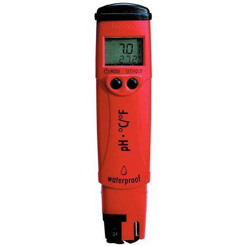 Medidor de pH estanque com compensação e indicação da temperatura pHep 4