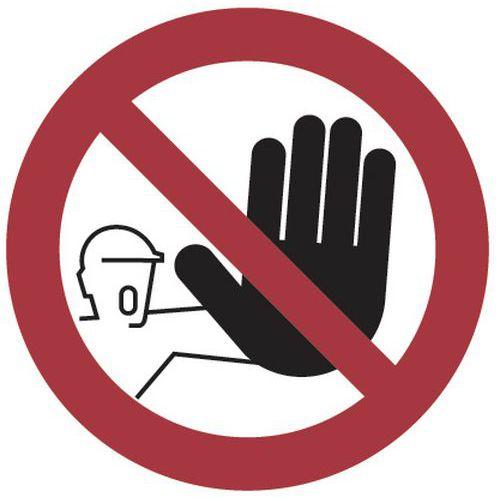 Painel de proibição – Entrada interdita – alumínio