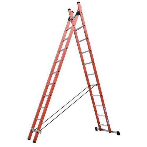 Escada transformável isolante de 2 planos