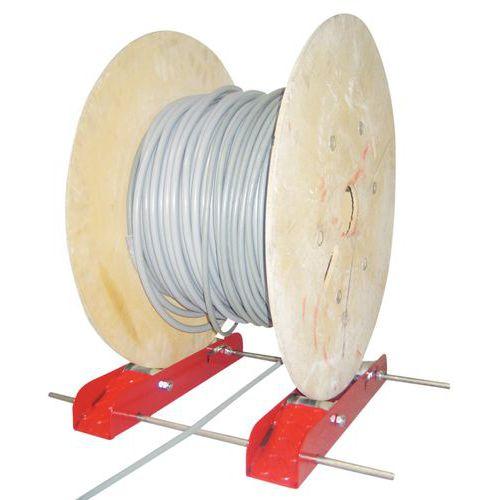 Desenrolador para carretéis - Modelo de roletes
