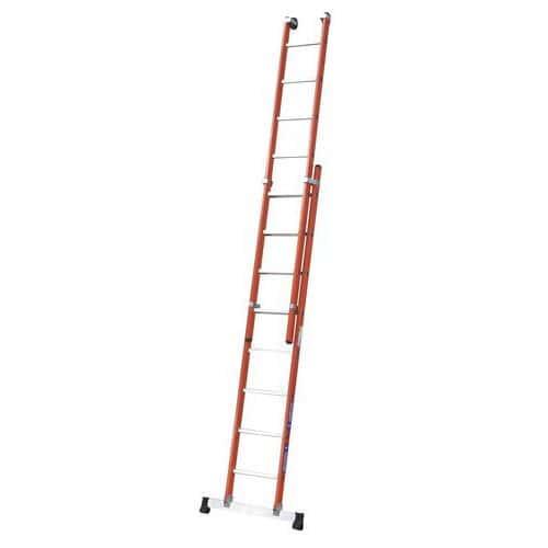 Escada extensível e isolante manual – 2 secções