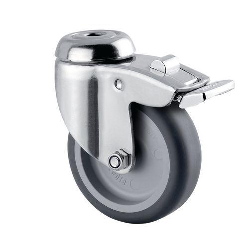 Rodízio giratório de olhal com travão – Capacidade de carga de 60kg