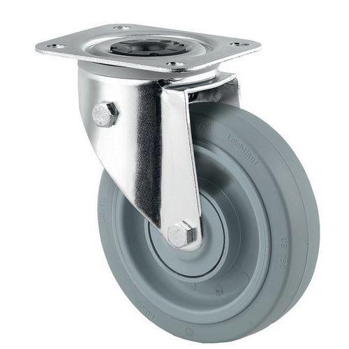 Rodízio giratório com placa – Capacidade de carga de 250kg