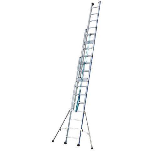 Escada extensível com corda Platinium 300 – 3 secções
