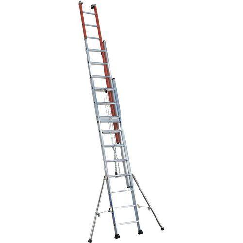 Escada extensível com corda Isolex – 3 secções