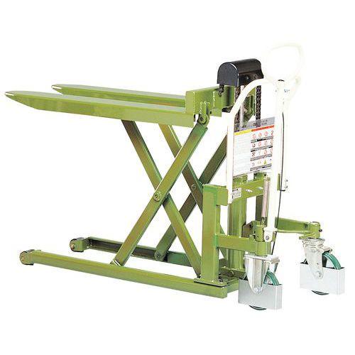 Porta-paletes manual de grande elevação - Garfo com comprimento de 1080 mm - Força de 1000 kg