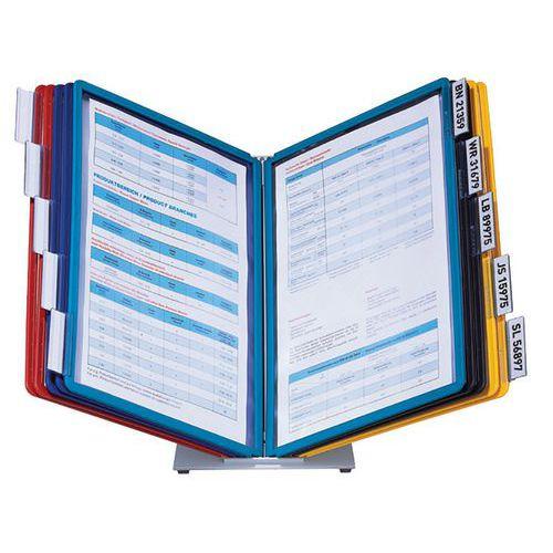Porta documentos de mesa Vario – 10 bolsas sortidas A4