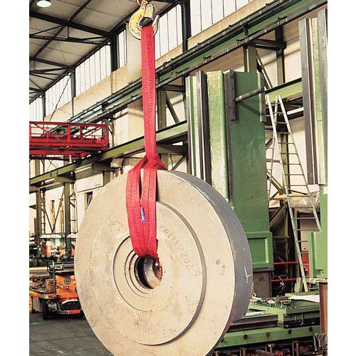Linga redonda sem-fim em poliéster - Capacidade de elevação de 500 a 8. 000 kg - Comprimento útil 1 m a 4 m