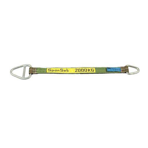 Linga com tratamento em poliuretano – capacidade de 2000 a 6000kg – com argola de fecho e argola em aço – 2m