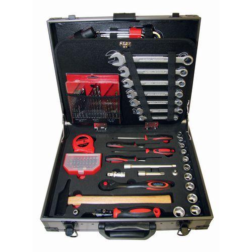 Conjunto de ferramentas de manutenção em cromo-vanádio com 97 unidades