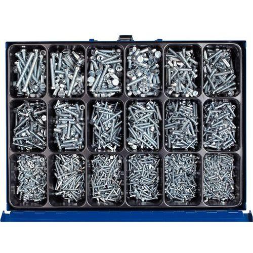 Caixa de parafusos de cabeça cilíndrica com fenda e porcas sextavadas - 3060 peças