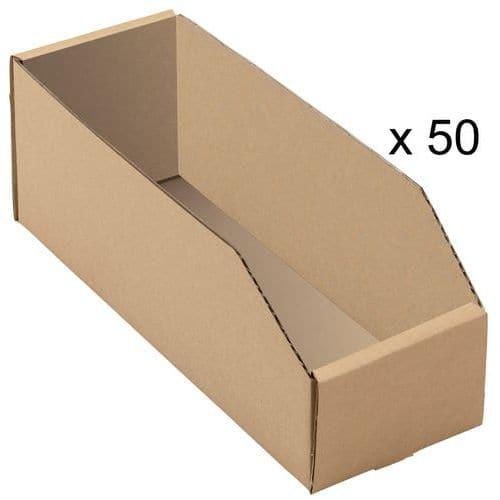 Caixas de bico cartão kraft castanho - Comprimento 300 mm
