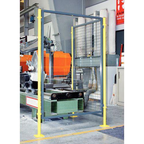 Divisória de proteção de máquina- Painel vidrado - Altura 1,6 m
