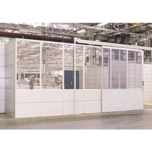 Painel de deslizamento - Para portas corrediças painel gradeado - Altura 3.01 m