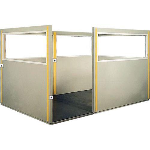 Poste para cubículos dupla parede em chapa de aço