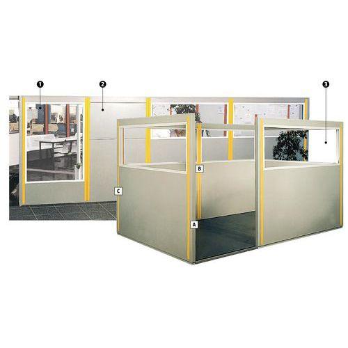 Cubículo metálico dupla parede - Painel vidrado