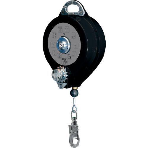 Anti-queda com curso de retorno automático em cabo com guincho + 1 am016 - 20 m