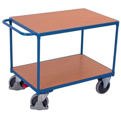 Carro ergonómico de 2 plataformas – Variofit – Capacidade: 500kg – 850 x 500mm