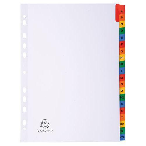 Separadores alfabéticos Exacompta – Cartão branco de 160g – A4