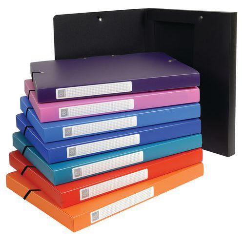 Caixa de arquivo em polipropileno opaco Exabox – Sortidas – Conjunto de 8