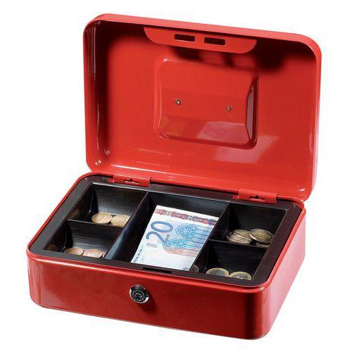 Caixa de dinheiro com compartimento