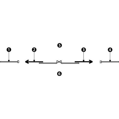Porta corrediça para divisórias de oficina em melamina - Painel integral - Altura 2.51 m