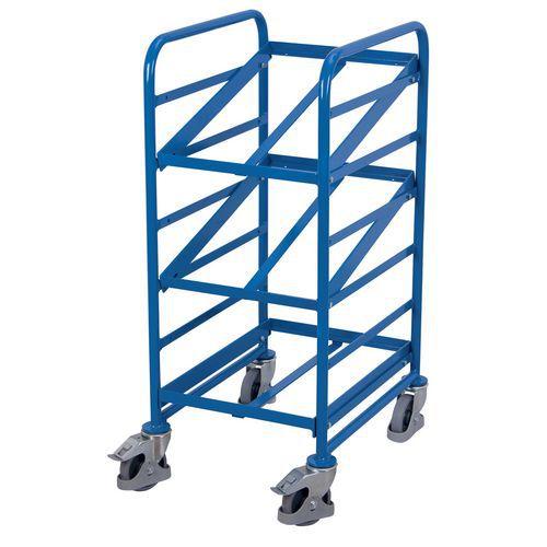 Carro de aço para caixas de norma europeia – Capacidade de 200kg