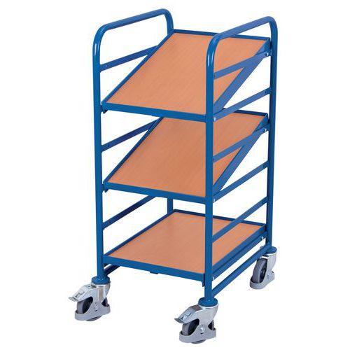 Carro de plataformas em madeira para caixas de norma europeia – Capacidade de 200kg