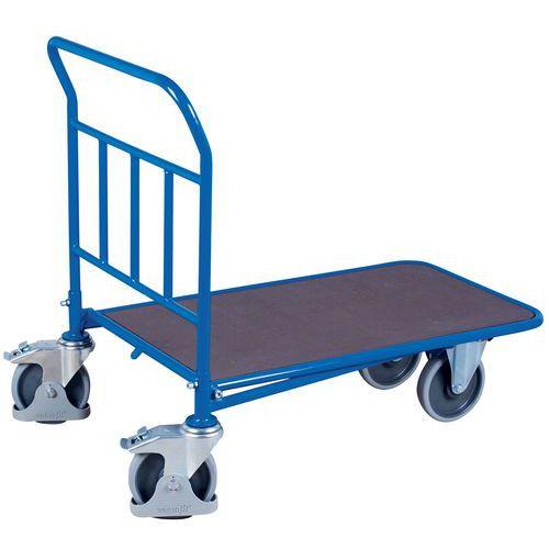 Carro ergonómico de aço encastrável – Espaldar fixo – 400 e 500kg
