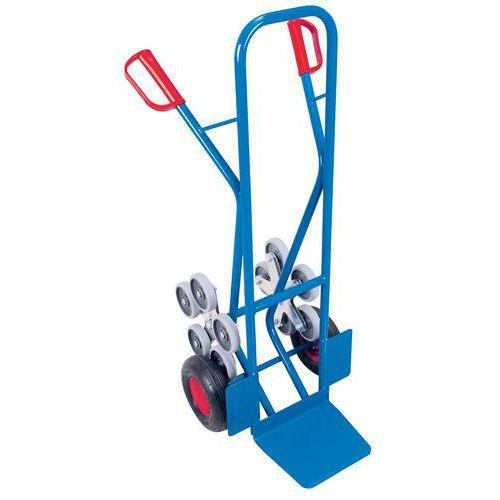 Transportador para escadas em aço com 5 rodas em estrela de 200kg