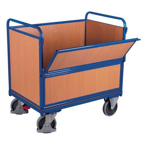 Carro ergonómico em madeira sem tampa – 1 parede semirrebatível – 500kg
