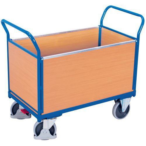 Carro ergonómico com 4 painéis em madeira – Capacidades de 400 e 500kg